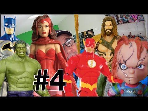 #4 Brinquedos Hulk Guerra nas Estrelas Batman Feiticeira Escarlate Chuck...