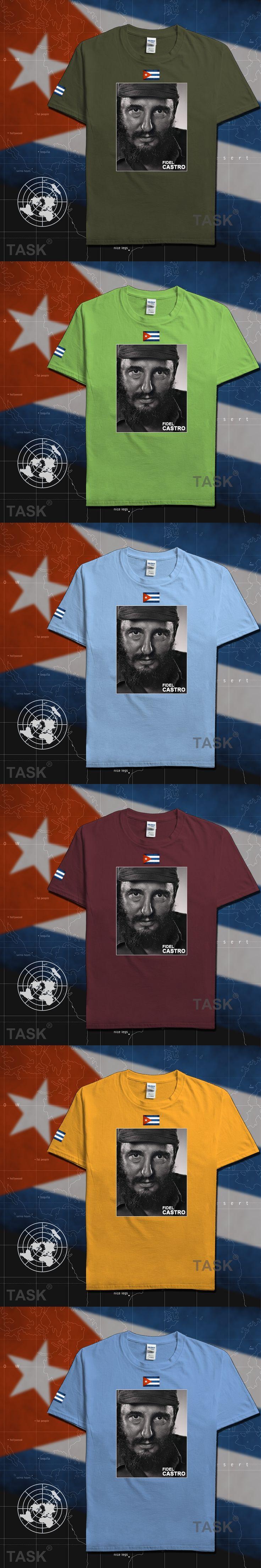 Fidel Castro President of Cuba Short Sleeve Casual Mens T Shirt tee souvenir t-shirt 100% cotton Men's 2017 Summer Fashion 05