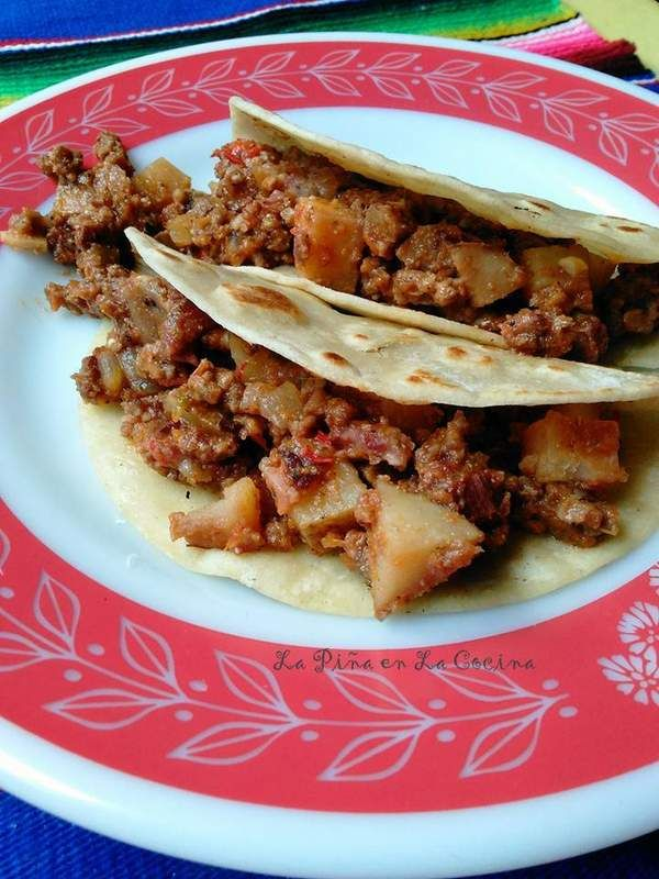 Picadillo Con Papa-Ground Beef and Potatoes
