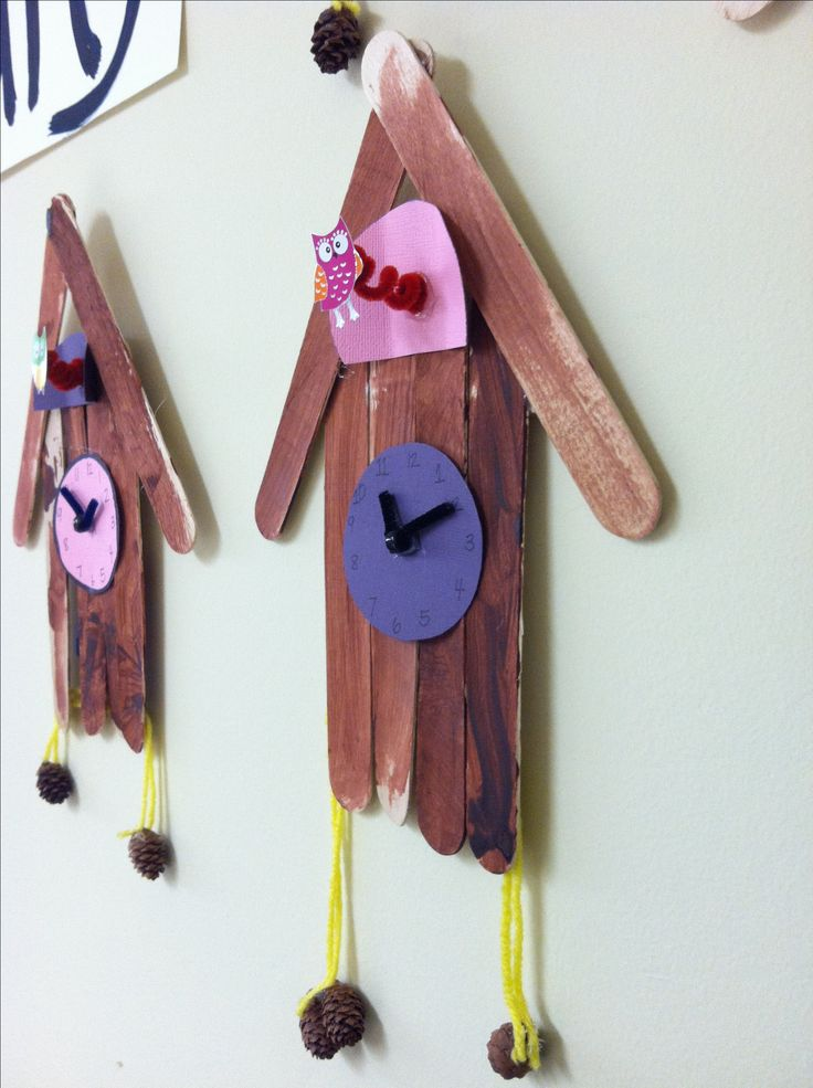 Germany - Cuckoo clock craft idea using popsicle sticks, easy enough to reproduce, no link though