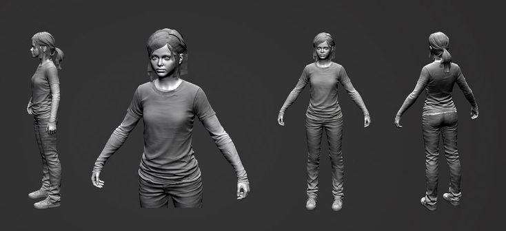 The Last of Us Characters Sculpt ellie-01