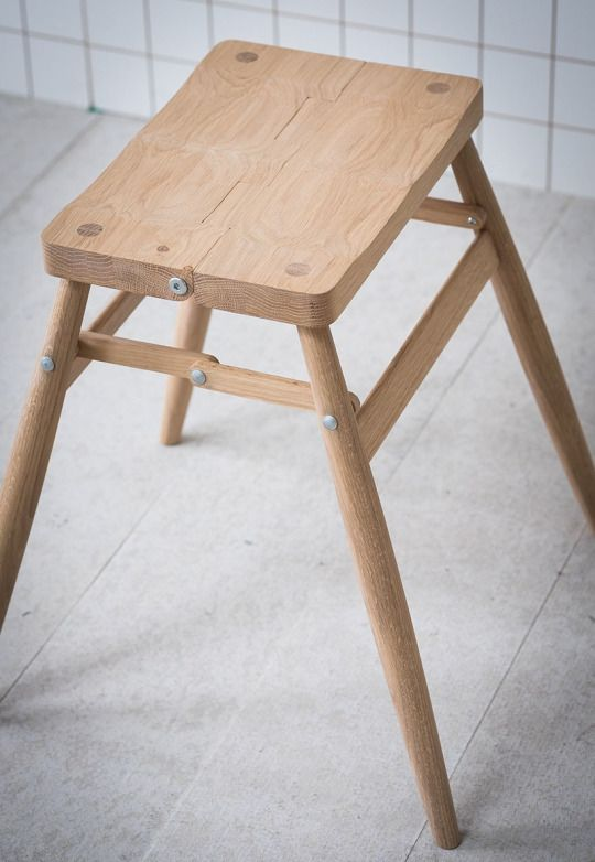 Contemporary Modern Folding Stool From Pinch Design. Folds Down Through The  Center; Can Be Wall Mounted With Pegs Provided.