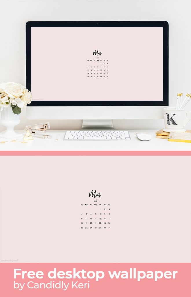 Groovy Pink Plain Organization March Calendar 2018 Wallpaper You Download Free Architecture Designs Xoliawazosbritishbridgeorg