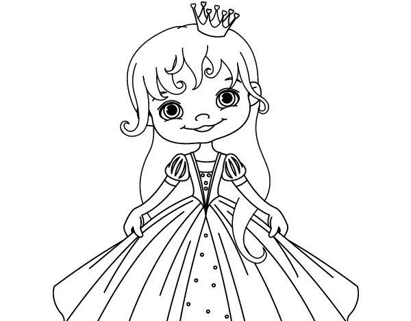 30 best Dibujos de Princesas para colorear images on Pinterest ...