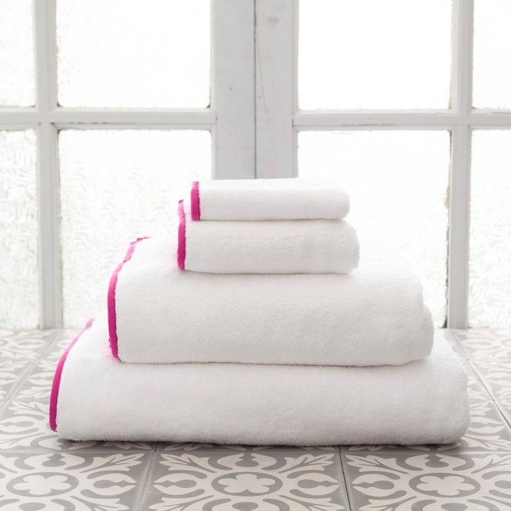 Pine Cone Hill Signature Banded Towel Fuchsia - SBWFBS, ANNE001-3