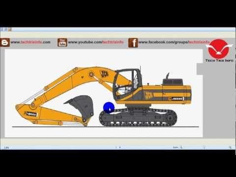 How tracked excavator machine works. ✔ - YouTube