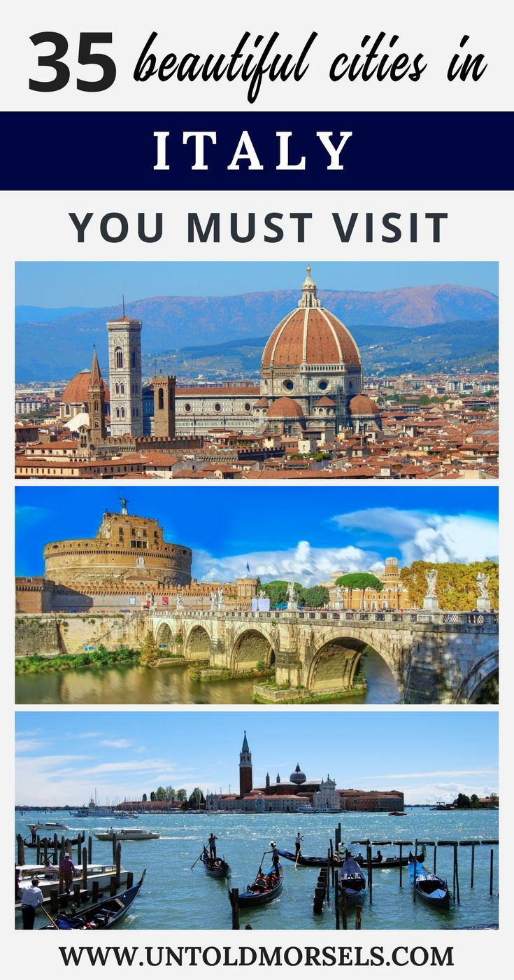 Italy travel - cities like Florence, Rome and Venice are some of the most beautiful places in Italy. Add them to your Italy bucket list along with hidden gems like Pavia, Orvieto and Ortigia #travel #Italy #rome #traveltips