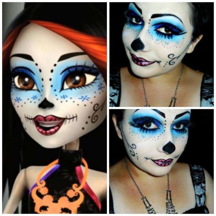 skelita calaveras monster high makeup look for halloween - Skelita Calaveras Halloween Costume