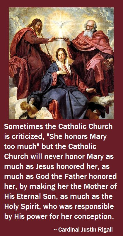 If non-Catholic Christians think Catholics honor Mary TOO MUCH, they must define how much is THE RIGHT AMOUNT, and most would have to realize they don't honor her at all, which Jesus would be disappointed at.