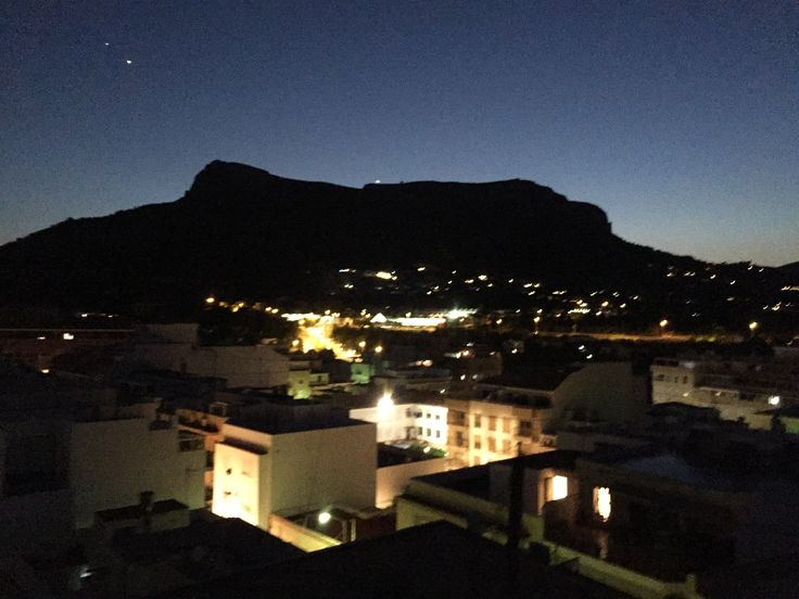 Old Town Calpe By Night By Marie Noonan