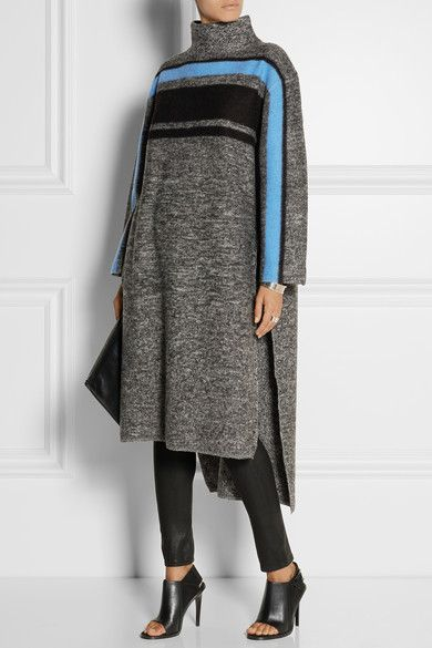 Tibi  Mélange boiled merino wool poncho - definitely NOT with heels!!!  SO COMFY AND WARM