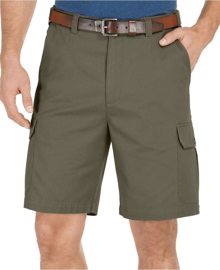 $10, Geoffrey Beene Extender Waist Cargo Shorts. Sold by Macy's. Click for more info: https://lookastic.com/men/shop_items/355591/redirect