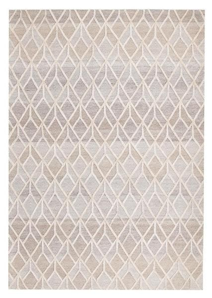 For a touch of luxury and stylish design, try one of our new Vienna Wool / Viscose rug range, such as this one: Vienna 2358 Hand Loomed Sand Beige Brown Patterned Wool and Viscose Modern Rug