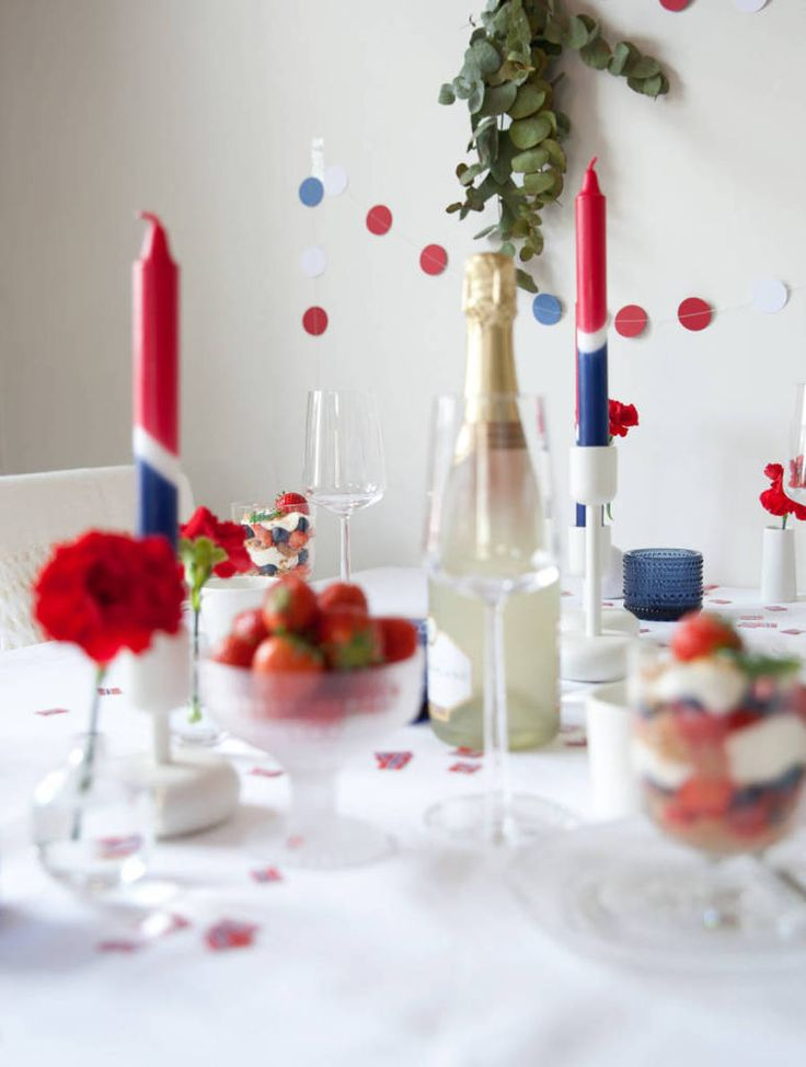 Borddekking til 17.mai // Table setting for national day - Kreativ-i-tetblogg.com