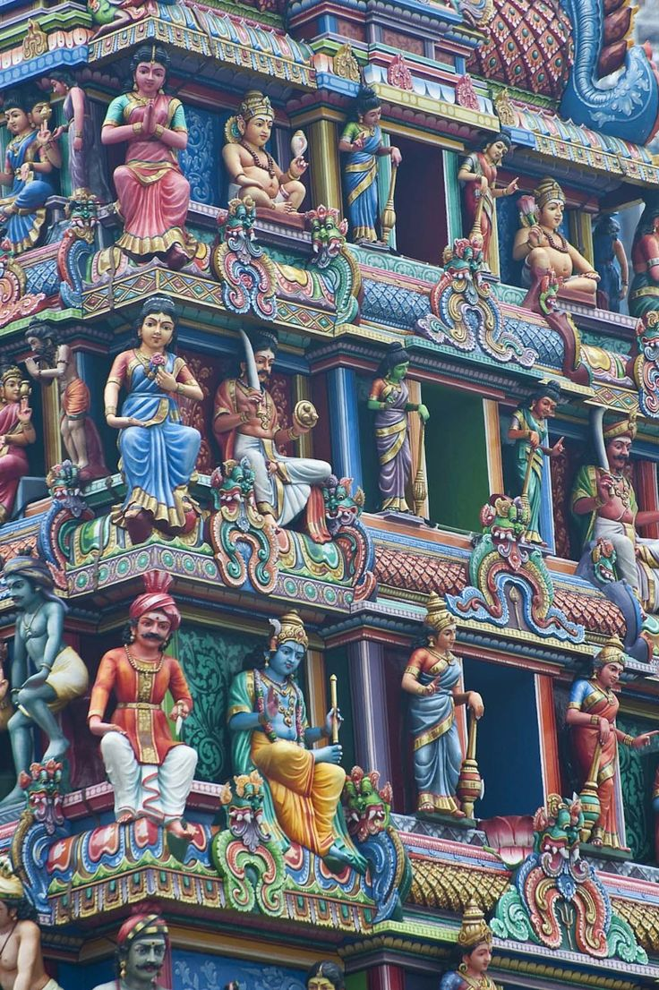 Hindu Temple,Singapore.Your religious convictions have much to do with where you were born.