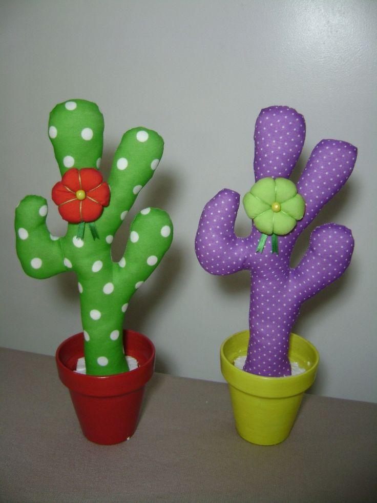 Cactus De Tela- Deco Diseño- Regalos-souvenirs- Fiesta - $ 72,00 en MercadoLibre