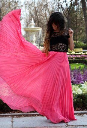 Gimme that chiffon!: Fashion, Style, Pink Skirts, Dress, Maxis, Outfit, Maxi Skirts