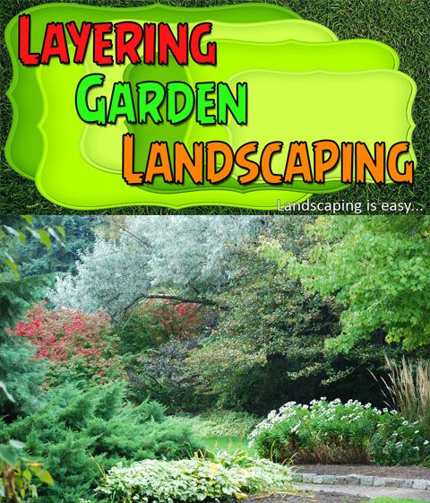DIY Landscaping: The layering affect of your garden landscaping design will add depth and make your garden much more interesting to look at. This is what will make your garden landscaping a success.