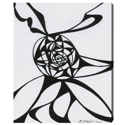 Oliver Gal Oliver Gal Black Vortex Graphic Art on Wrapped Canvas