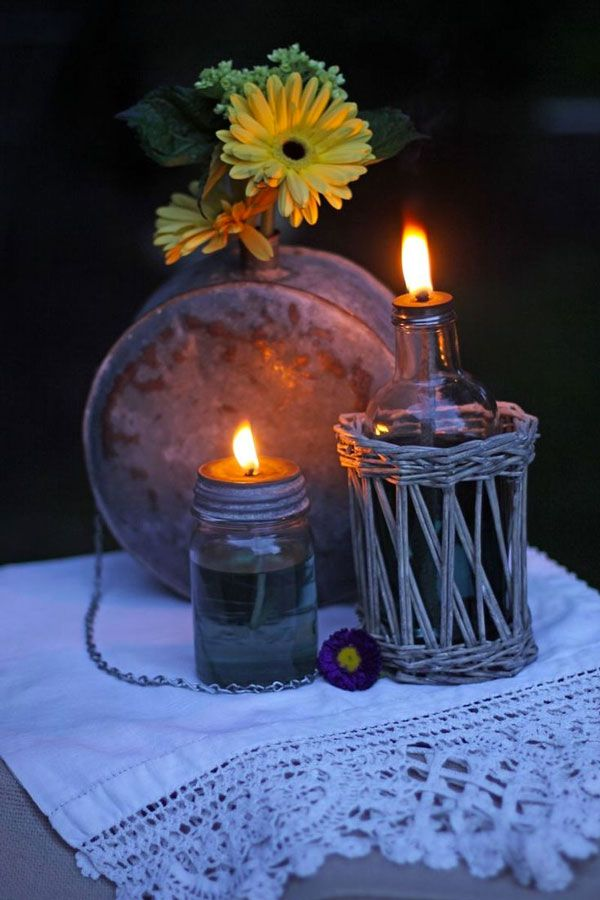 Candela citronella fai da te: Come fare una candela antizanzare molto carina