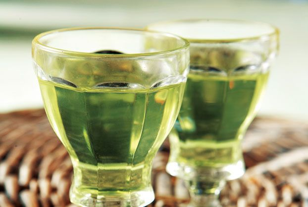 Bergamot homemade liqueur