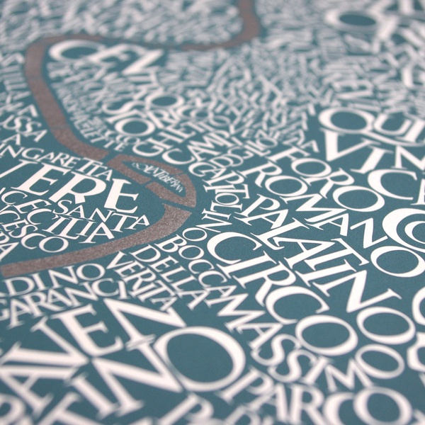 Rome Type Map by Ursula Hitz, via Behance