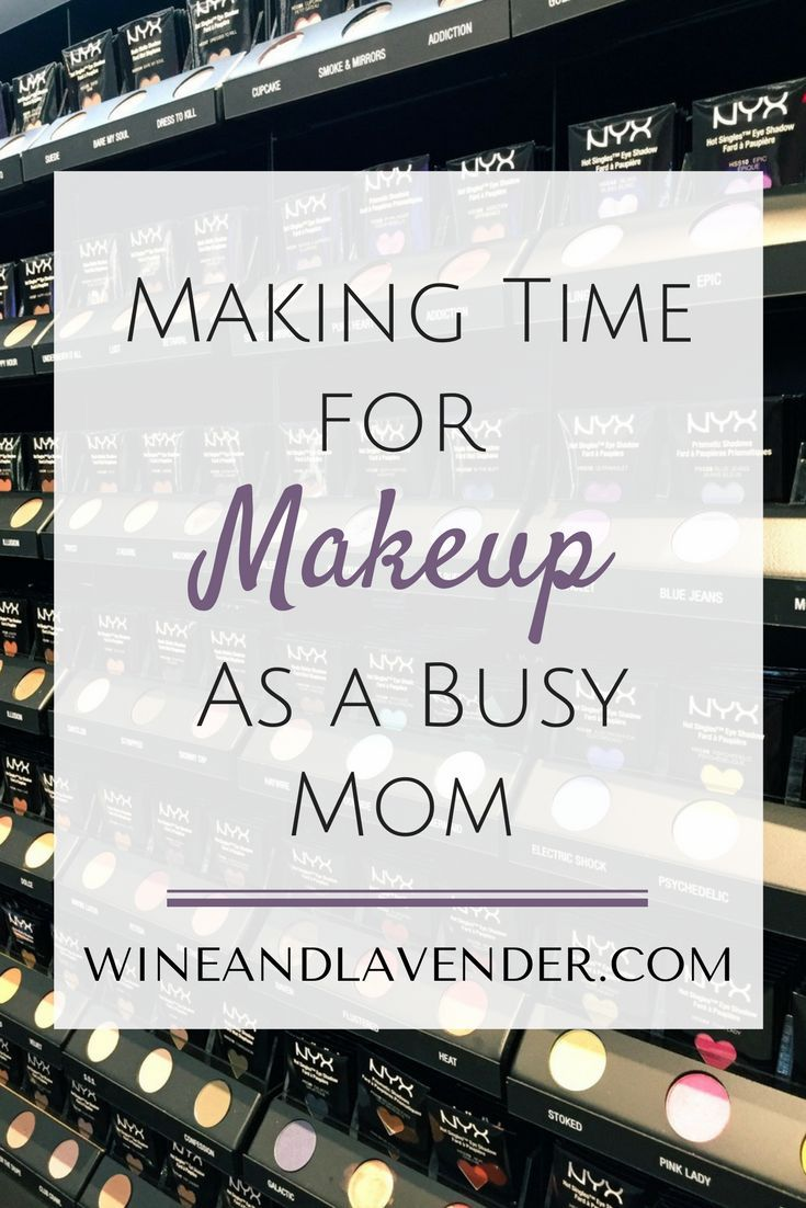 Feeling good about yourself starts on the inside, but makeup certainly adds to the effect. As moms, we put our own needs on the back burner to our kids, but it's important to make time for yourself and make yourself feel good. Here's Making Time for Makeu