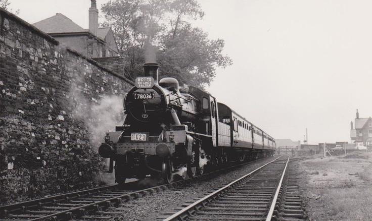 Barnoldswick. Steam Train 1960s.