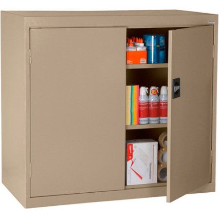 Elite Series Counter Height Storage Cabinet with Adjustable Shelves, 46 inchW x 24 inchD x 42 inchH, Tropic Sand, Beige