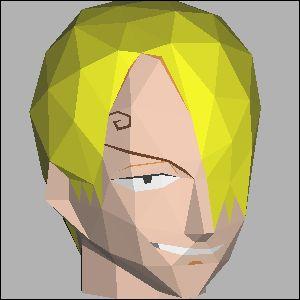 ワンピース・サンジの展開図 似顔絵 無料 ダウンロード ペーパークラフトファン