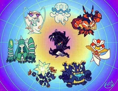 Los UltraEntes Grandes adversarios en los juegos pokemon Son and Mon