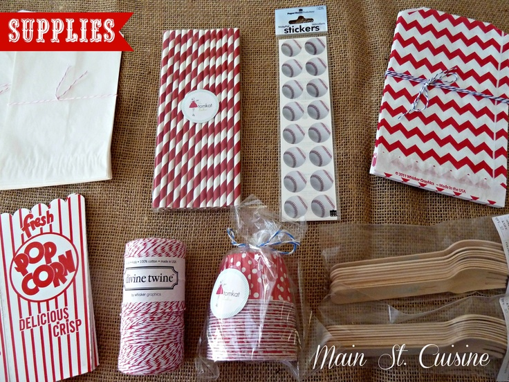 party supplies for favors, etc.  Love the paper straws to go along with bottles of Izze soda