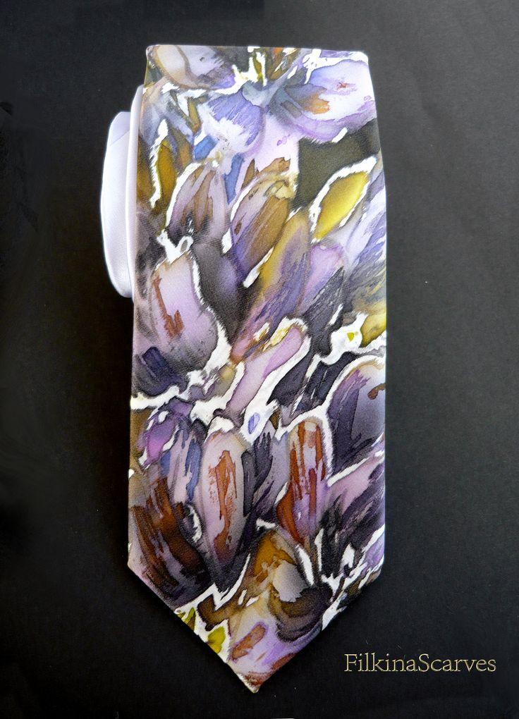 @FilkinaScarves #Mens Necktie #Silktie #silksatin #purpletie #floraltie #Weddingtie #uniquetie  #FS