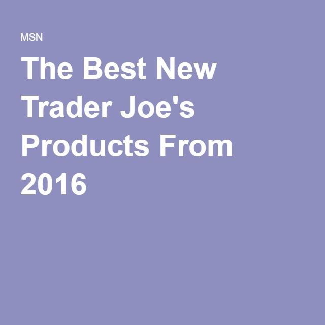 The Best New Trader Joe's Products From 2016