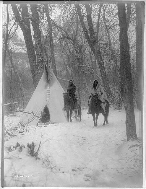1908 - Le camp d'hiver des Apsaroke