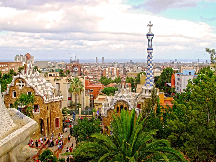 Parc Guell (Barcelona) in HDR