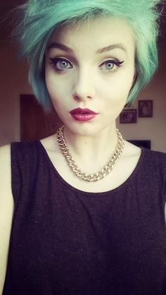 short green hair - Google Search