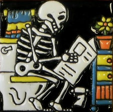 Charmant Mexican Talavera Tile Day Of The Dead Skeleton Bathroom