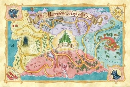 The Marvelous Map of Oz - The Wizard of Oz