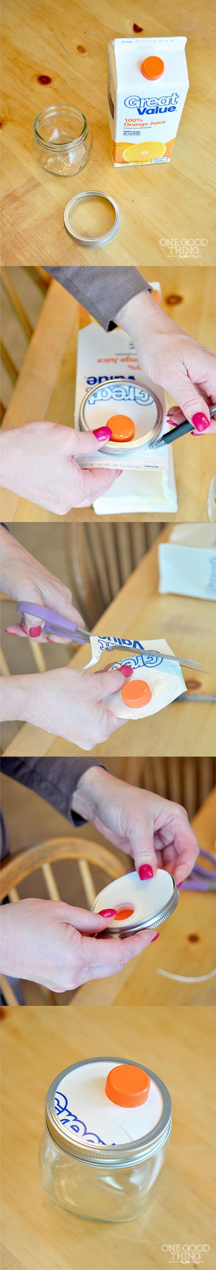 Mason Jar Into DIY Dispenser - onegoodthingbyjillee.com - Tarro DIY con dosificados