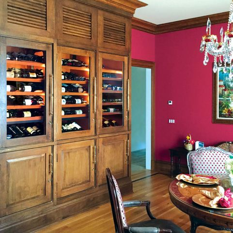 This Sophisticated Custom Wine Cabinet From Vigilant Inc Designed For A Residential Client In New Jersey Makes One Impressive Dining Space