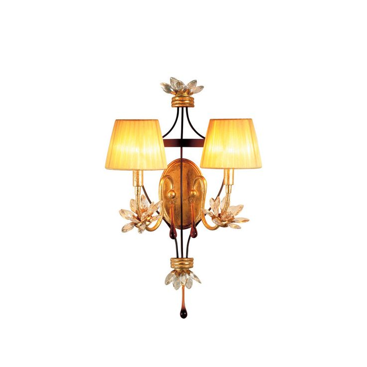 buy the eurofase lighting gold leaf and ebony direct shop for the eurofase lighting gold leaf and ebony two light up lighting wall sconce from the festina