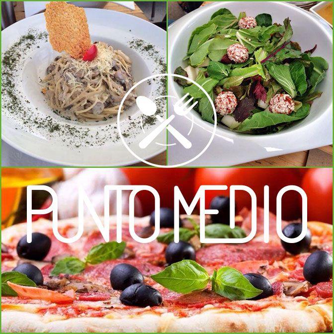 Hoy a partir de las 2:00pm y durante el resto del día tenemos en nuestro menú de $49 pastas (pomodoro, pesto y hongos), ensaladas y pizza! Punto Medio Restaurant in Guadalajara, Jalisco