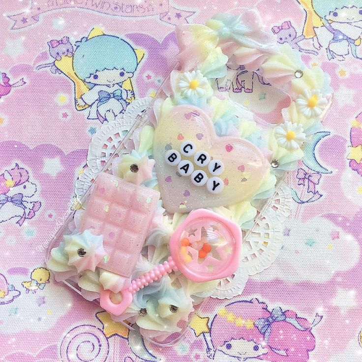 This case will be listed on my Etsy soon! It's for the Galaxy S6 Edge. Customs are closing at midnight tonight, so if you're interested in a custom case please visit my Etsy! ( #decoden #deco #decodencase #crybaby #kawaii #pastel #kawaiigirl )