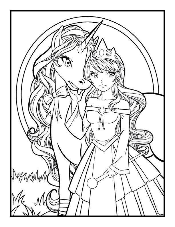 Unicorn Coloring Book | Unicorn coloring pages, Mermaid ...