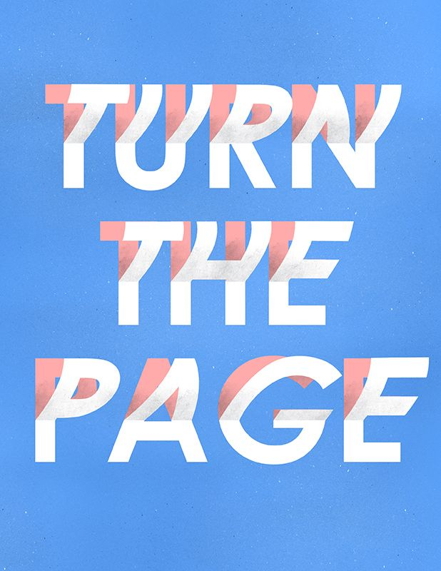 "visualgraphc: Day 362 ""Turn The Page"" by Matt Chinworth (follow his tumblr TypeSWAMP where he creates a new design every single day)"