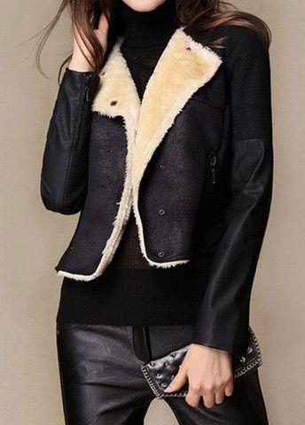 Hot Sale Button Design Black Long Sleeve Jackets – teeteecee - fashion in style