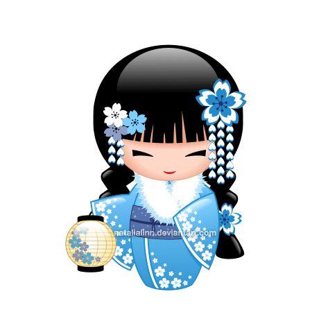Winter Kokeshi by natalialinn on