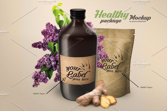 Healthy Package - Mockup by VectorMedia on @creativemarket