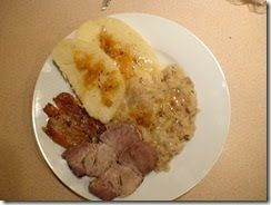 Roast pork with dumplings and Sauerkraut  ( pečené vepřové s knedlíky a se zelím , colloquially vepřo-knedlo-zelo ) is considered the most ...